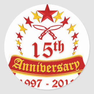 15th Anniversary Classic Round Sticker