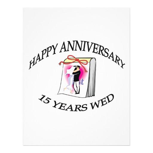 15th anniversary full color flyer zazzle - Color of th anniversary ...
