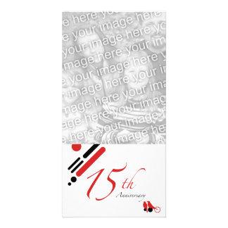 15th Anniversary (mod birds) Card