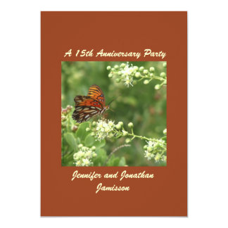 15th Anniversary Party Invitation Butterfly