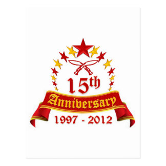 15th Anniversary Postcard