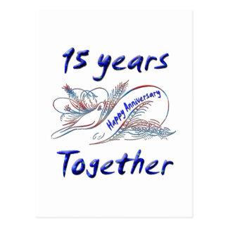 15th. Anniversary Postcard