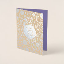 15th Anniversary Real Foil Luxury Cards