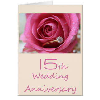 15th anniversary rose invitation
