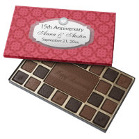 15th Anniversary Wedding Anniversary Red Z12 45 Piece Box Of Chocolates