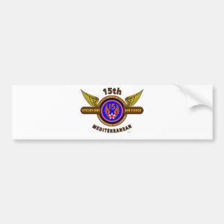 "15TH ARMY AIR FORCE ""ARMY AIR CORPS"" WW II CAR BUMPER STICKER"