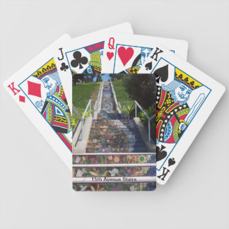 15th Avenue Stairs Bicycle Playing Cards
