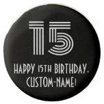 "[ Thumbnail: 15th Birthday - Art Deco Inspired Look ""15"", Name ]"