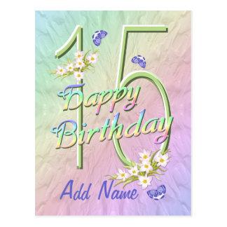 15th Birthday Butterfly Dance Postcard