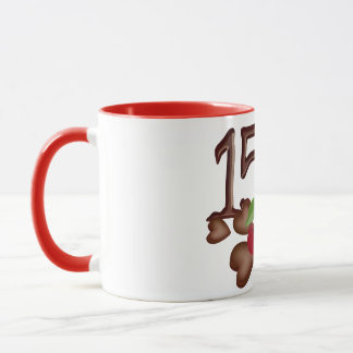 15th birthday Chocolate rose and hearts design Mug