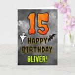 [ Thumbnail: 15th Birthday: Eerie Halloween Theme + Custom Name Card ]