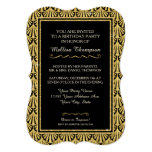 15TH Birthday Party Glam Great Gatsby Style 5x7 Paper Invitation Card