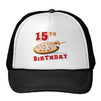 15th Birthday Pizza party Trucker Hat