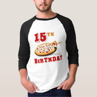 15th Birthday Pizza party T Shirt