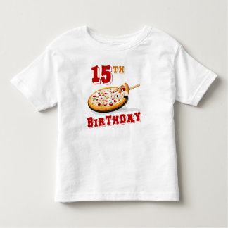15th Birthday Pizza party T-shirt