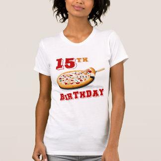 15th Birthday Pizza party Tee Shirt