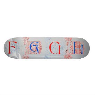 15th Century Alphabet Skateboard