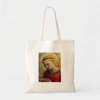15th Century ANGEL with Bible Budget Tote Bag