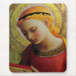 15th Century ANGEL with Bible Mouse Pad