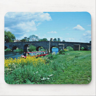 15th Century bridge over Avon River, Warwickshire, Mousepad