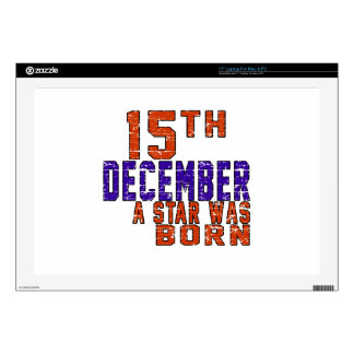 15th December a star was born Laptop Skin