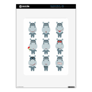 15th February - Hippo Day - Appreciation Day Decal For iPad
