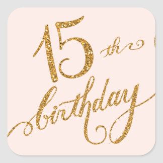 15th, Fifteenth Mis Quice Anos Birthday Party Square Sticker