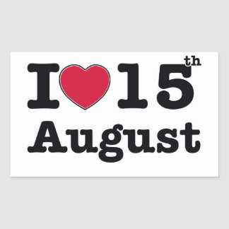 15th  july birthday design rectangular sticker