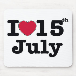 15th july my day birthday mouse pad