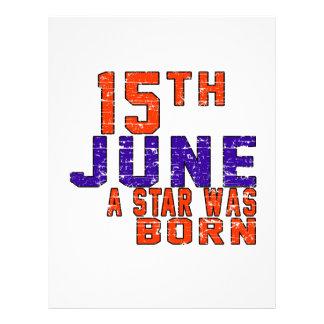 15th June a star was born Customized Letterhead