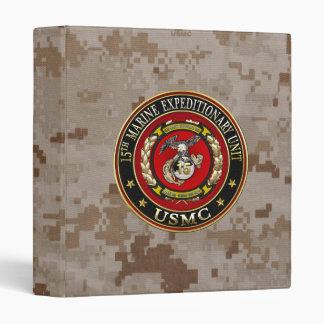 15th Marine Expeditionary Unit (15th MEU) [3D] 3 Ring Binder