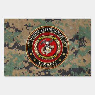 15th Marine Expeditionary Unit (15th MEU) [3D] Lawn Sign