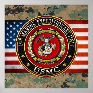 15th Marine Expeditionary Unit (15th MEU) [3D] Poster