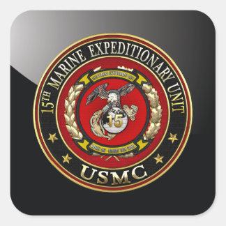 15th Marine Expeditionary Unit (15th MEU) [3D] Square Sticker