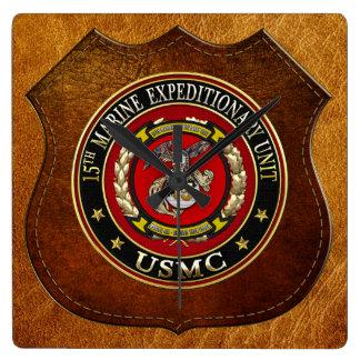 15th Marine Expeditionary Unit (15th MEU) [3D] Square Wall Clock