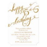 15th Mis Quince Anos, Quinceanera Birthday Ticket Custom Announcements