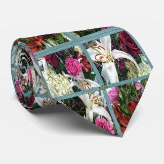 15th Pattern; Window Flowers Neck Tie