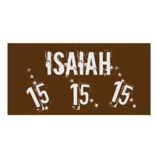 15th Teen Birthday Grunge Letters Stars C15Z Poster