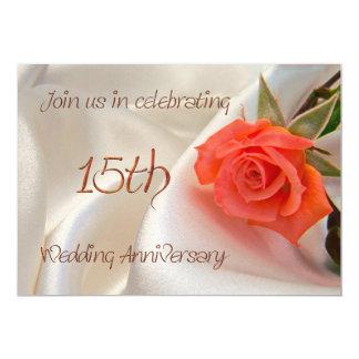 15th wedding anniverary party invitation