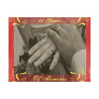 15th Wedding Anniversary Canvas Print