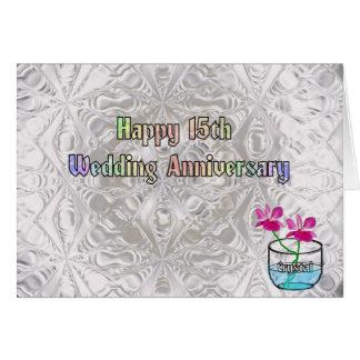 15th Wedding Anniversary Card