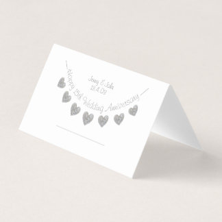 15th Wedding Anniversary crystal place card