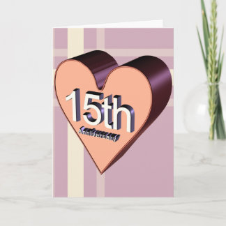 15th Wedding Anniversary Gifts Card