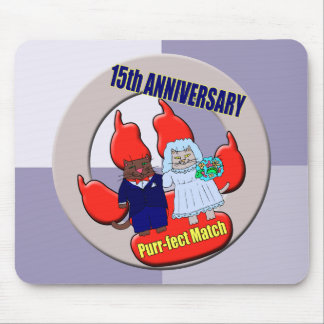 15th Wedding Anniversary Gifts Mouse Pad