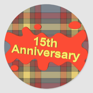 15th Wedding Anniversary Gifts Sticker