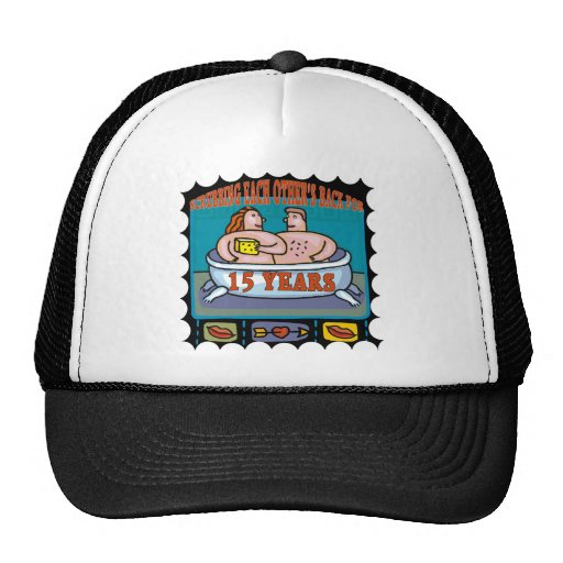 15th Wedding Anniversary Gifts Trucker Hat