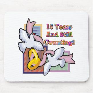 15th wedding anniversary gw mouse pad