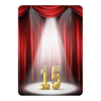 15th Wedding Anniversary Party Card