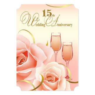 15th Wedding Anniversary Party Invitations