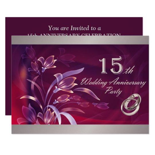 15th Wedding Anniversary Party Ideas: 15th Wedding Anniversary Party Invitations